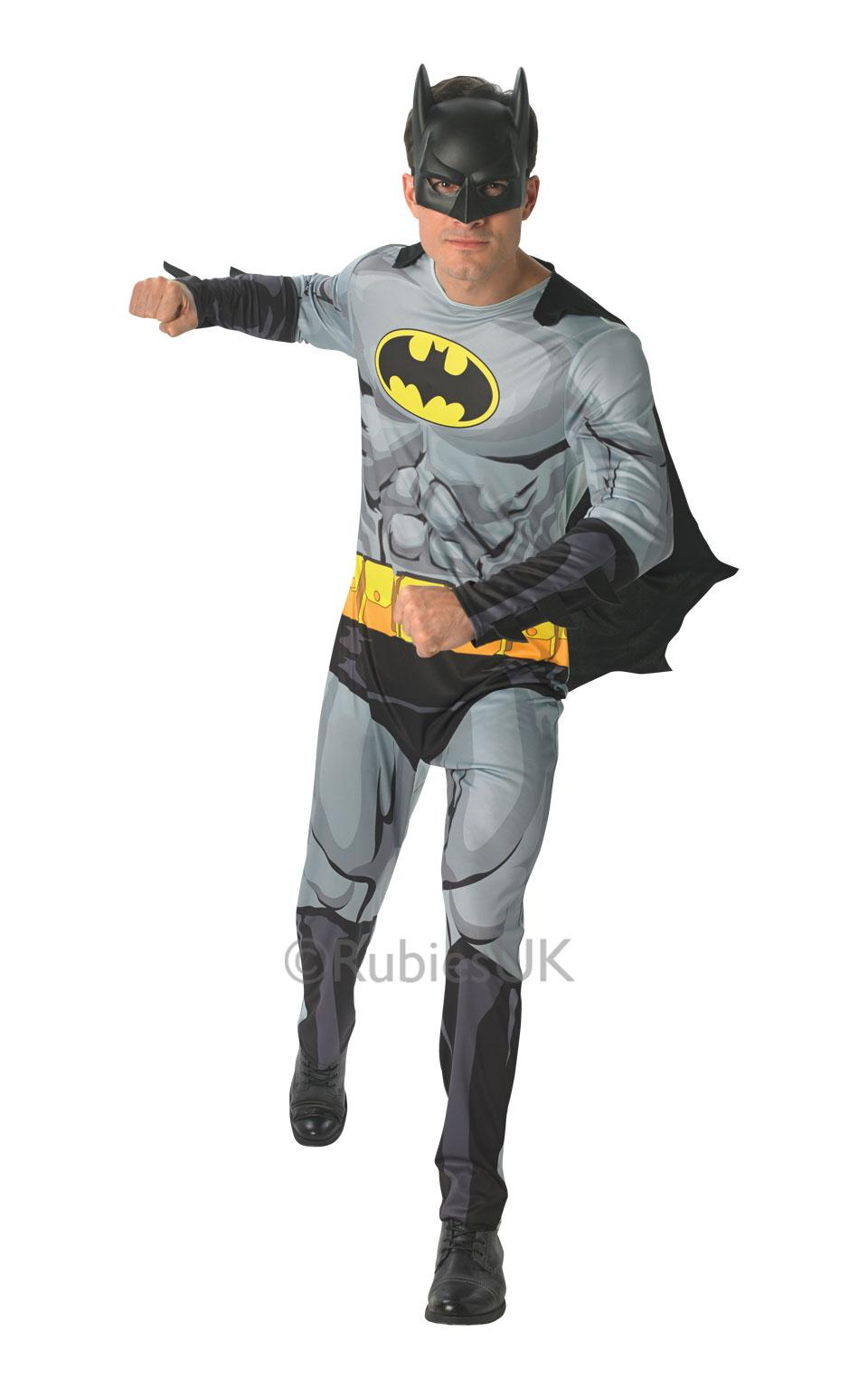 Mens Adult Batman Comic Book Fancy Dress Costume Outfit Rubies Official