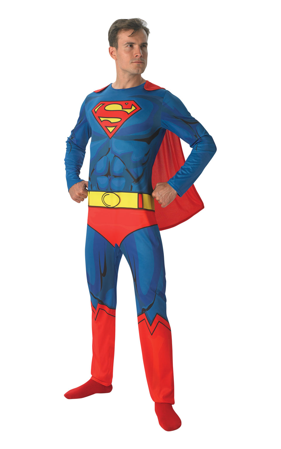 Mens Adult Superman Comic Book Fancy Dress Costume Outfit Rubies Official