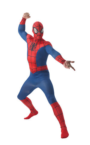 Mens Adult Spiderman Fancy Dress Costume Outfit Official Avengers Halloween