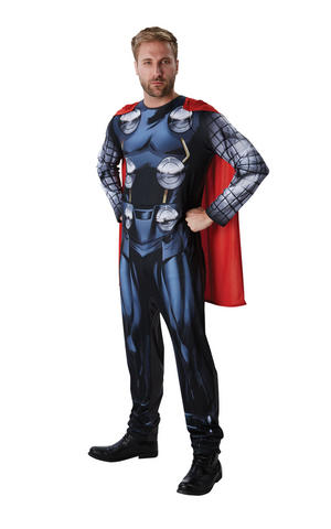 Mens Adult Classic Thor Fancy Dress Costume Outfit Official God Of Thunder