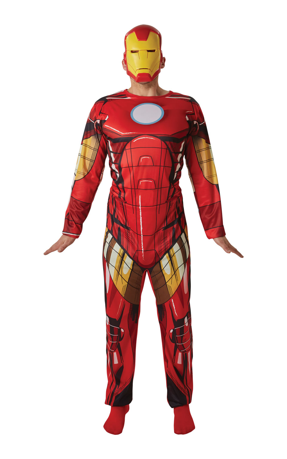 Mens Adult Adult Iron Man Fancy Dress Costume Outfit Rubies Official