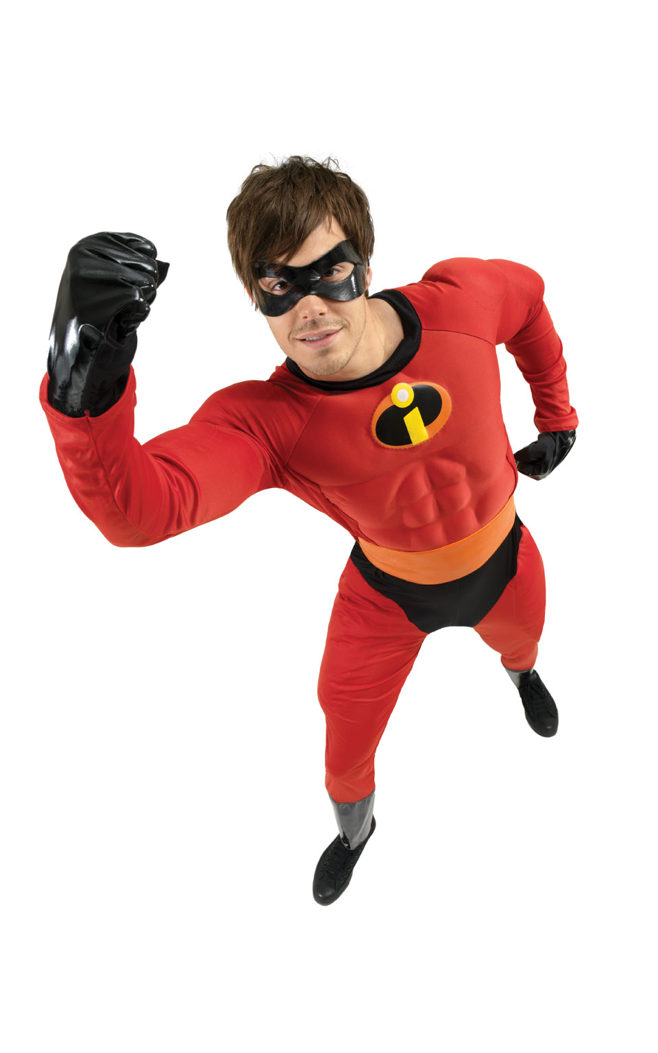 Mens Adult Mr Incredible Fancy Dress Costume Outfit Rubies The Incredibles