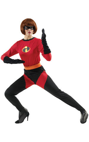 Womens Adult Mrs Incredible Fancy Dress Costume Outfit Rubies The Incredibles