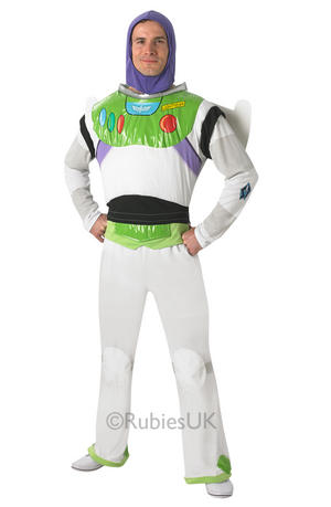 Mens Adult Buzz Lightyear Fancy Dress Costume Disney Pixar Toy Story Outfit