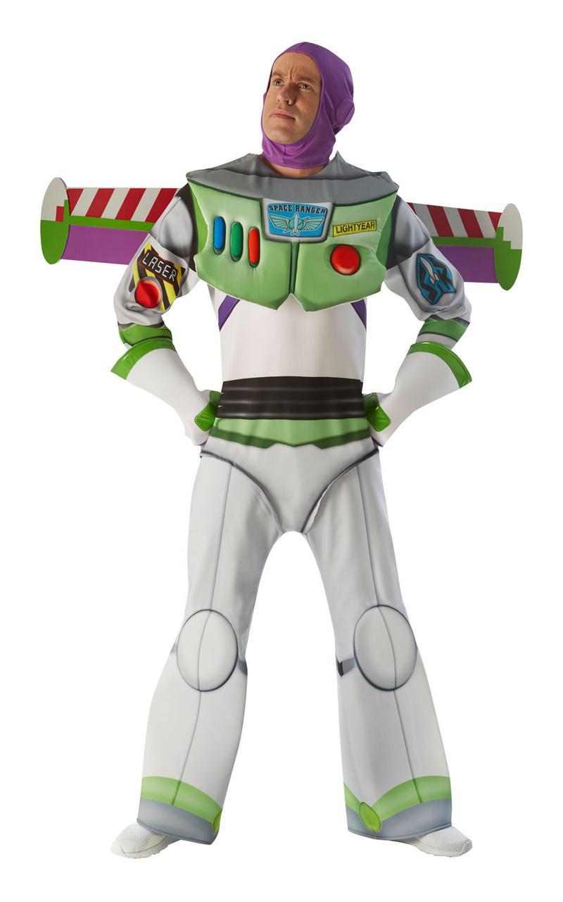 Mens Disney Delux Buzz Lightyear Costume Toy Story Fancy Dress Book Week Outfit
