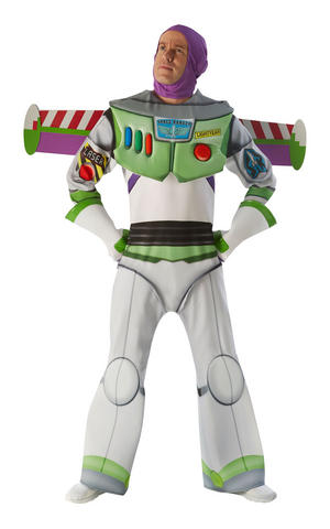 Mens Adult Deluxe Buzz Lightyear Fancy Dress Costume Outfit Official Toy Story