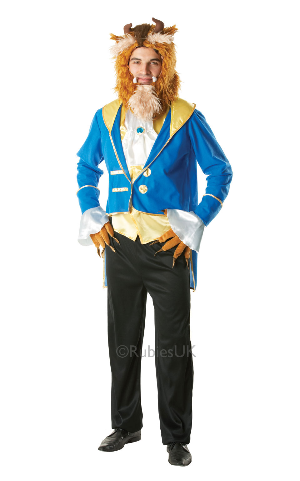 Mens Adult Beast Fancy Dress Costume Outfit Disney Beauty & The Beast Official