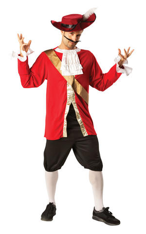 Mens Adult Captain Hook Fancy Dress Costume Outfit Peter Pan Pirate Official