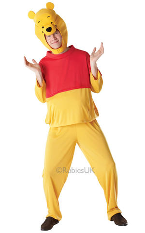 Mens Adult Winnie The Pooh Fancy Dress Costume Outfit Disney Bear Book Week