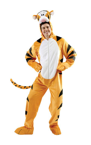 Mens Adult Tigger Fancy Dress Costume Outfit Rubies Disney Winnie The Pooh