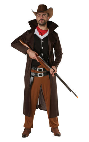 Mens Adult Western Cowboy Fancy Dress Costume Outfit Halloween Westworld