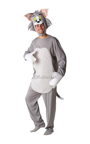 Adult Tom & Jerry Cat Fancy Dress Costume Cartoon Character Tv Outfit Official