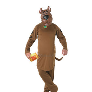 Adult Scooby Doo Fancy Dress Costume Outfit Cartoon Dog Halloween 70S Official