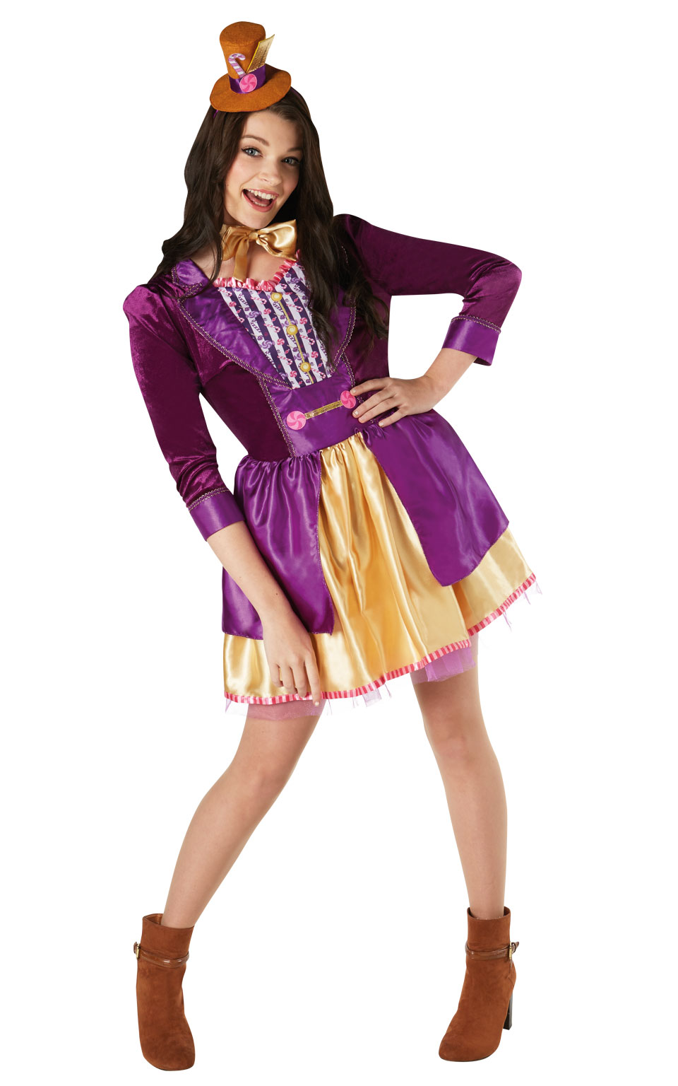 Womens Ladies Ladies Willy Wonka Fancy Dress Costume Outfit Book Week Official