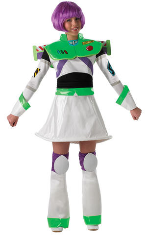Womens Ladies Miss Buzz Lightyear Fancy Dress Costume Outfit Pixar Toy Story