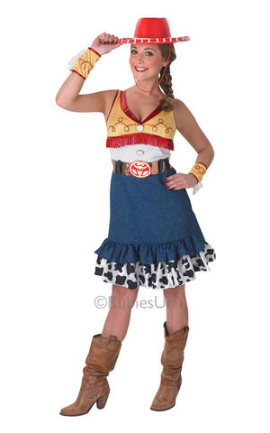 Womens Ladies Sassy Jessie Fancy Dress Costume Outfit Toy Stpry Cowgirl Disney
