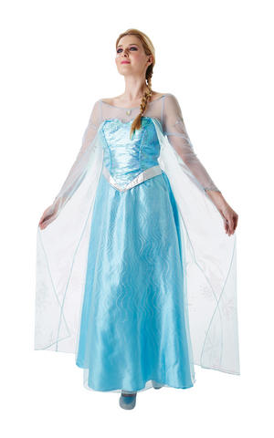 Womens Ladies Elsa Fancy Dress Costume Outfit Rubies Frozen Disney Princess