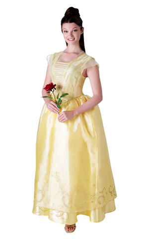 Womens Ladies Adult Belle Fancy Dress Costume Outfit Official Disney Princess