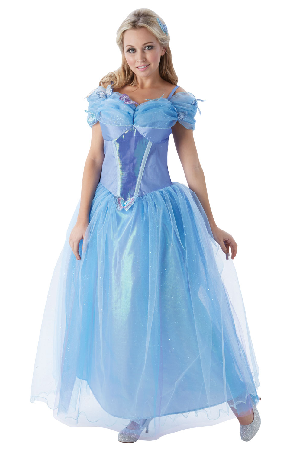 Womens Ladies Cinderella Fancy Dress Costume Outfit Disney Princess Official