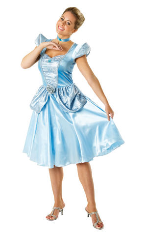 Womens Ladies Cinderella Fancy Dress Costume Outfit Disney Princess Fairytale