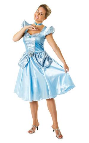 Womens Ladies Cinderella Fancy Dress Costume Outfit Disney Princess Fairytale