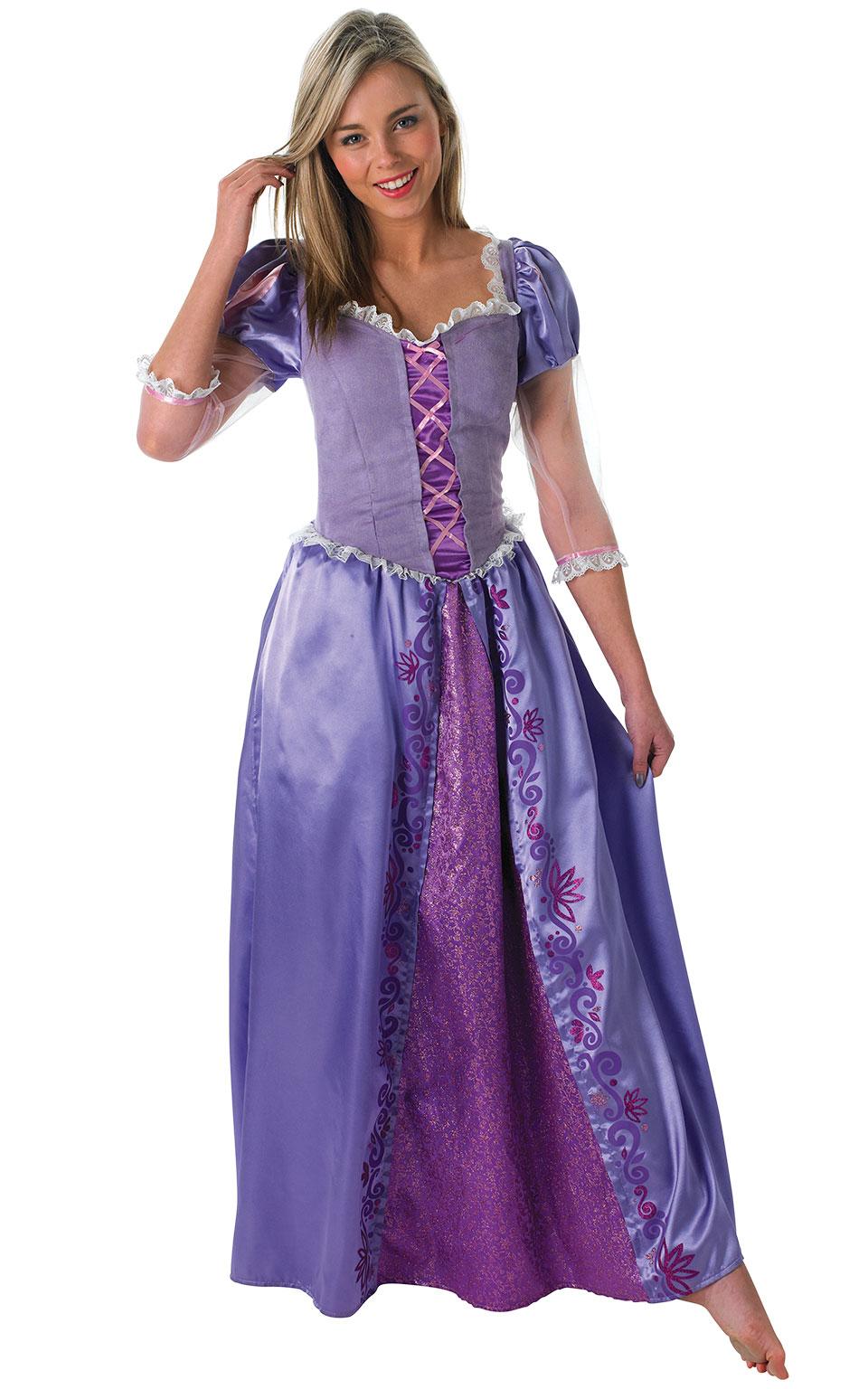Womens Ladies Rapunzel Fancy Dress Costume Outfit Rubies Disney Princess