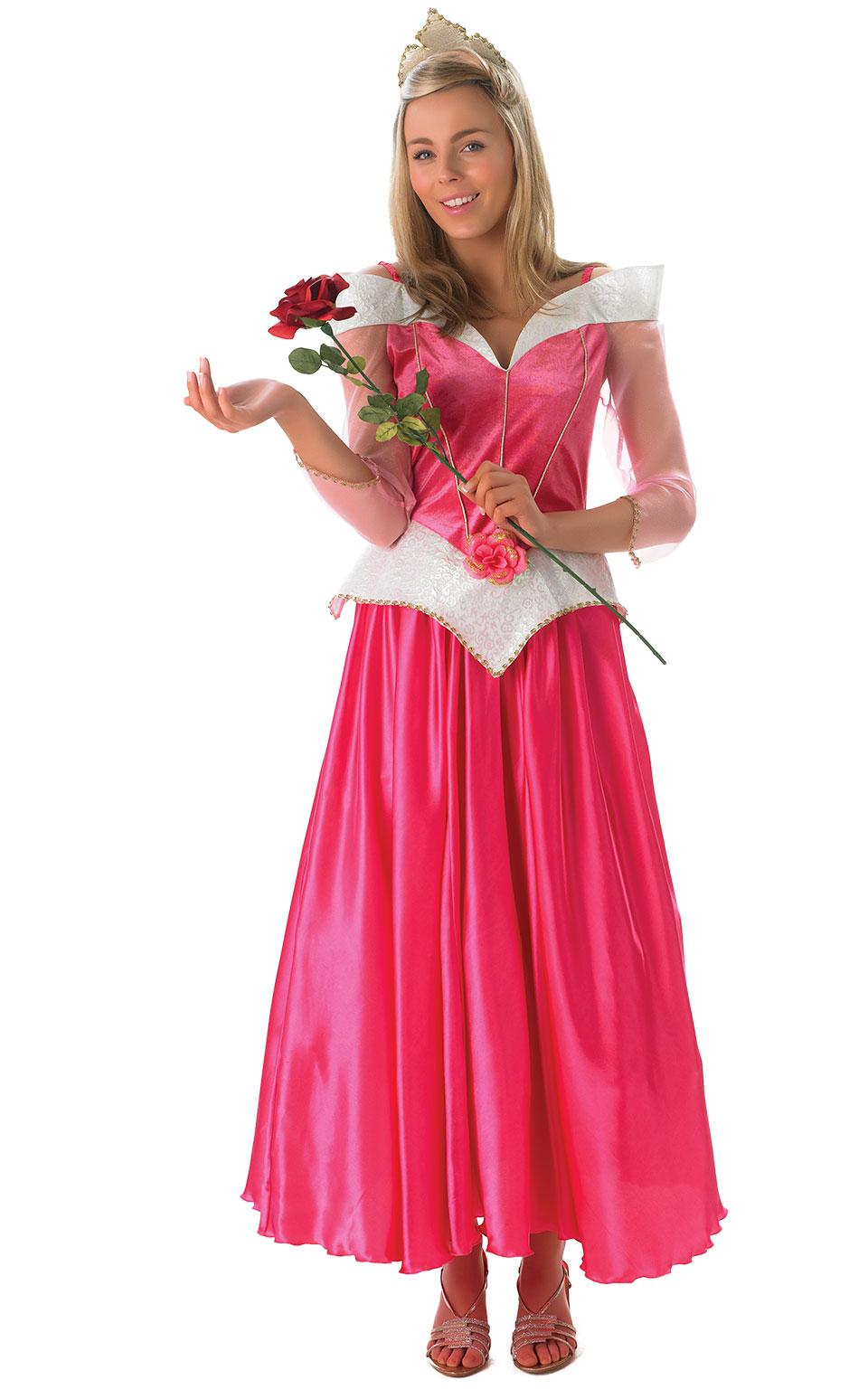 Womens Ladies Sleeping Beauty Fancy Dress Costume Outfit Rubies Disney Princess
