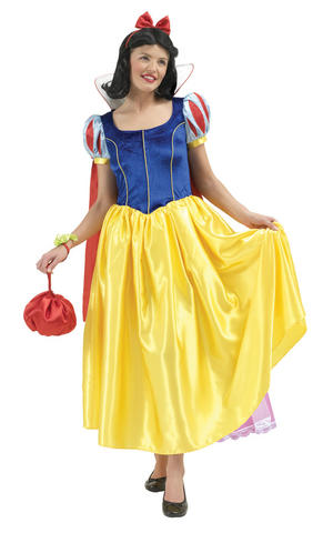 Womens Ladies Snow White Fancy Dress Costume Outfit Rubies Disney Princess