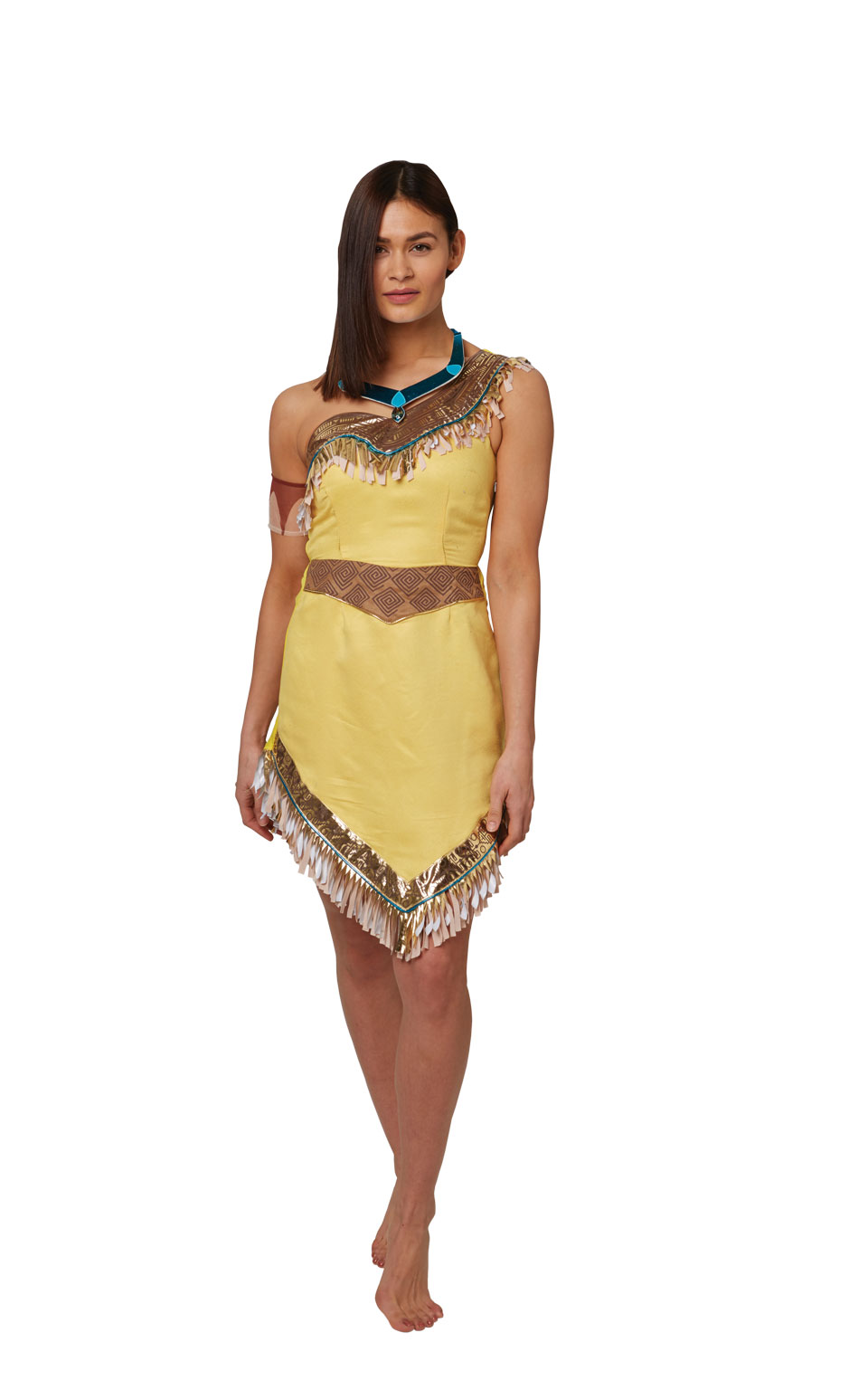 Womens Ladies Pocahontas Fancy Dress Costume Outfit Rubies Disney Official