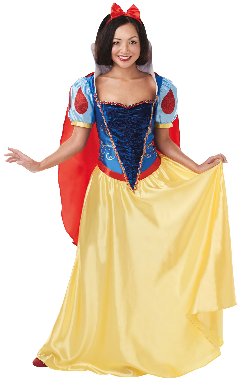 Womens Ladies Snow White Fancy Dress Costume Outfit Disney Princess