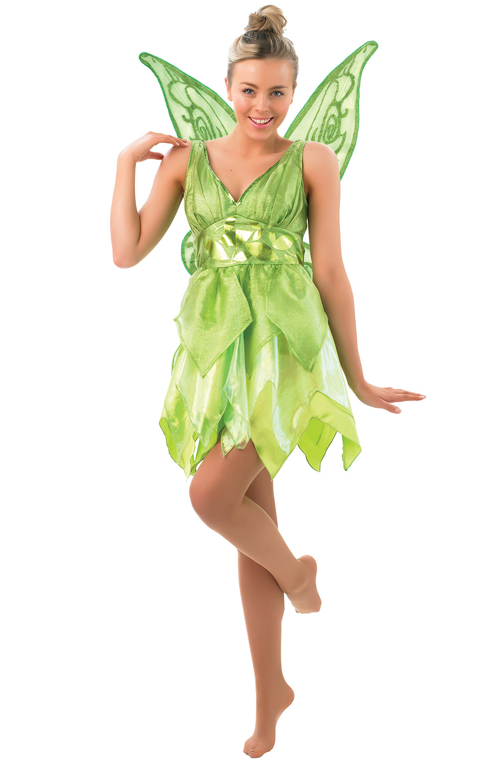 Womens Ladies Tinker Bell Fancy Dress Costume Outfit Disney Peter Pan Fairy