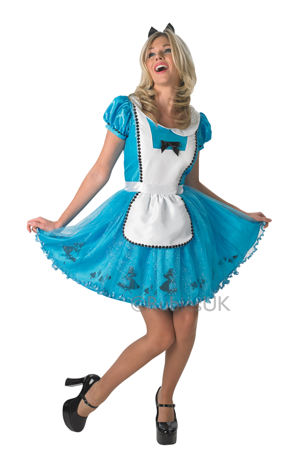 Womens Ladies Sassy Alice In Wonderland Fancy Dress Costume Outfit Disney