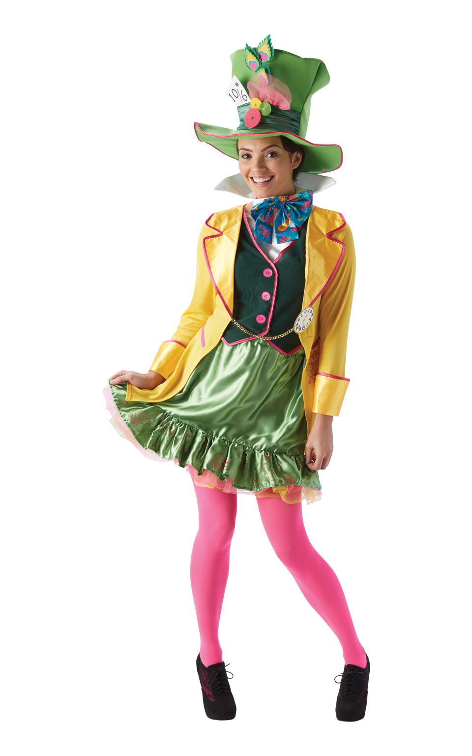 Womens Ladies Ladies Mad Hatter Fancy Dress Costume Outfit Alice In Wonderland