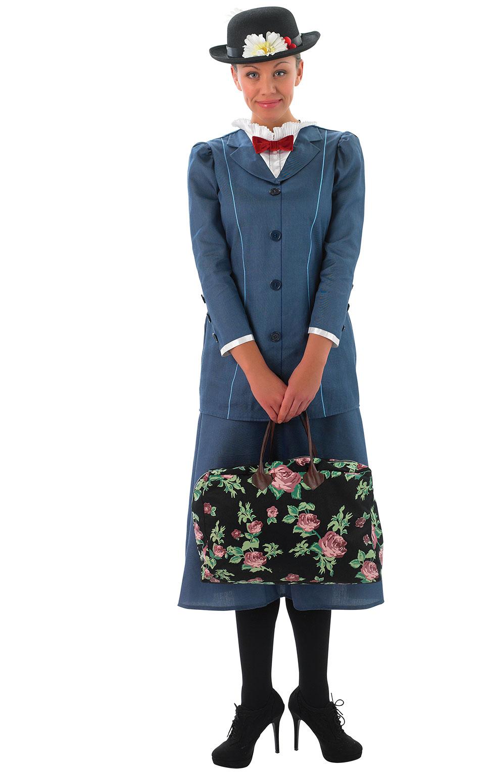 Womens Ladies Mary Poppins Fancy Dress Costume Outfit Rubies Disney Book Week