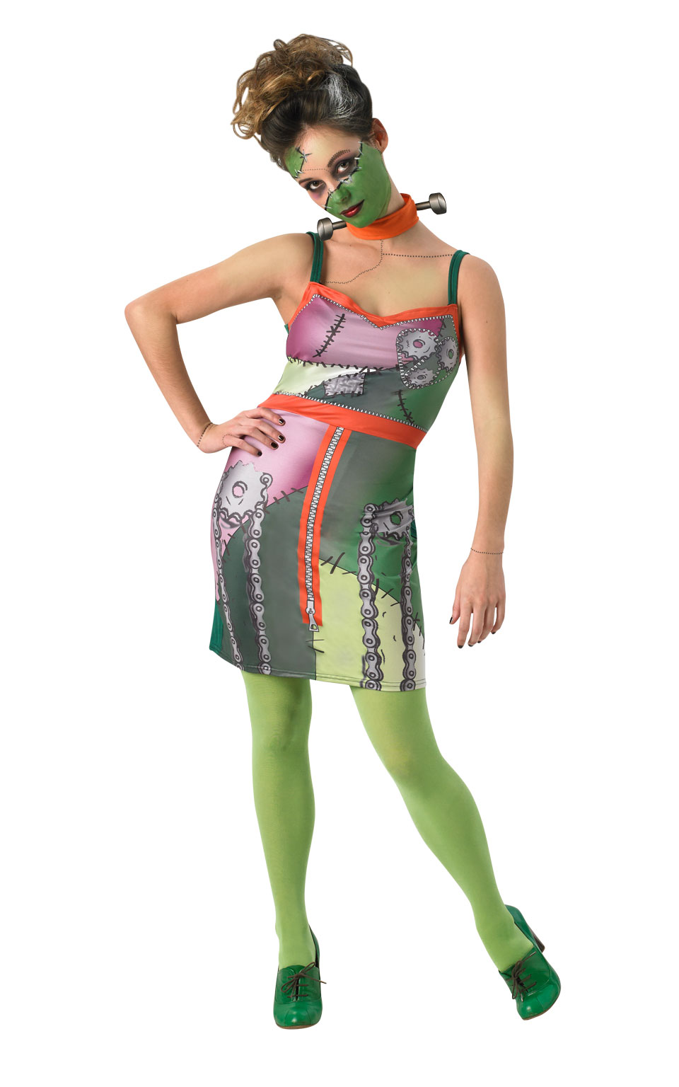 Womens Ladies Frankenstein Monster Fancy Dress Costume Outfit Rubies Halloween
