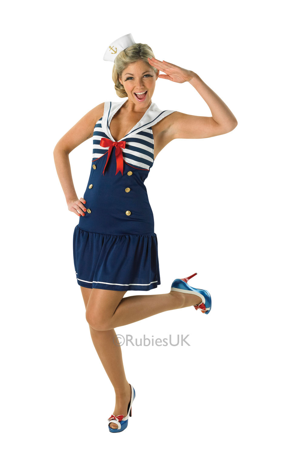 Womens Ladies Adult Sexy Sailor Girl Fancy Dress Costume Outfit Rubies Natutical