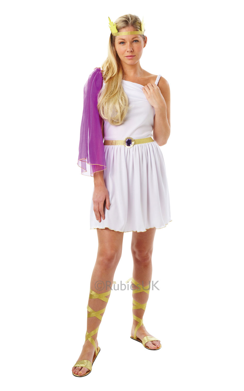 Womens Ladies Adult Goddess Fancy Dress Costume Outfit Ancient Greek Toga