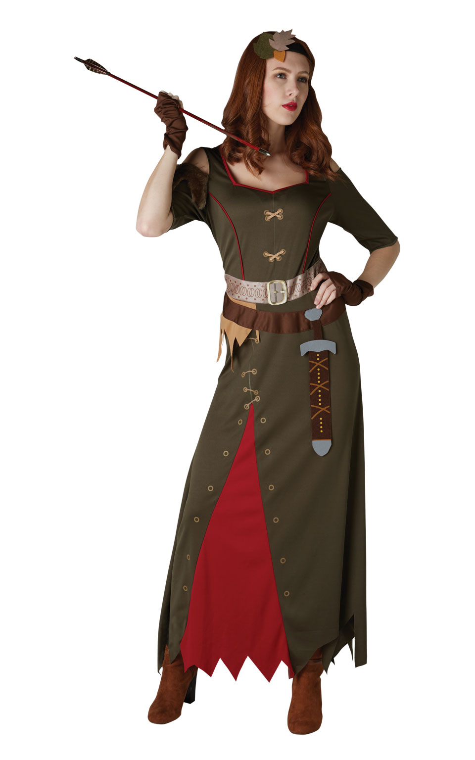 Womens Ladies Maid Marion Fancy Dress Costume Outfit Peter Pan Official