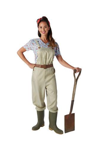 WW2 1940s Land Girl Womens Army World War 2 Fancy Dress Costume OUTFIT