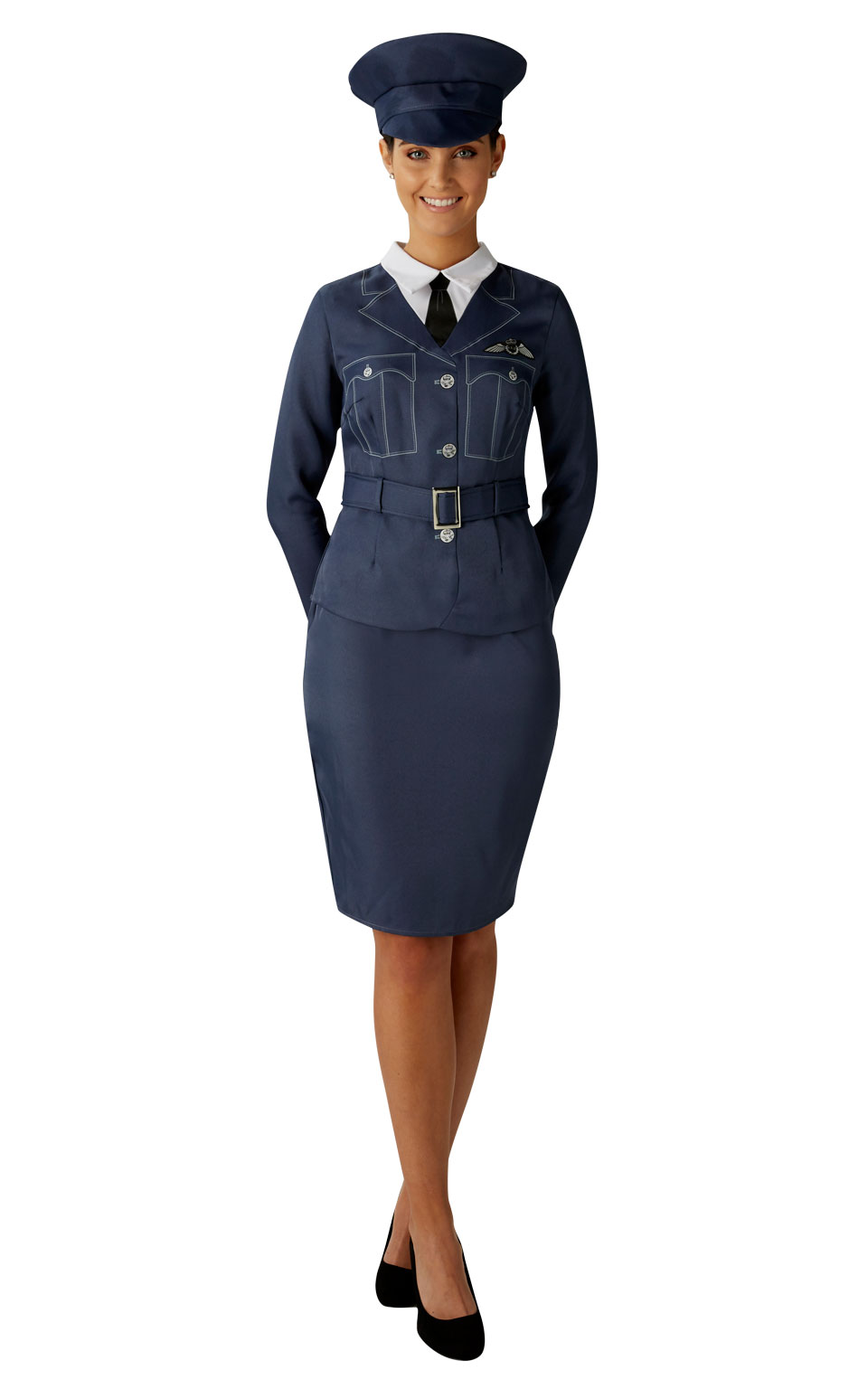 Wraf Girl Ladies Fancy Dress Raf Pilot Uniform Ww2 1940S Womens Adults Costume