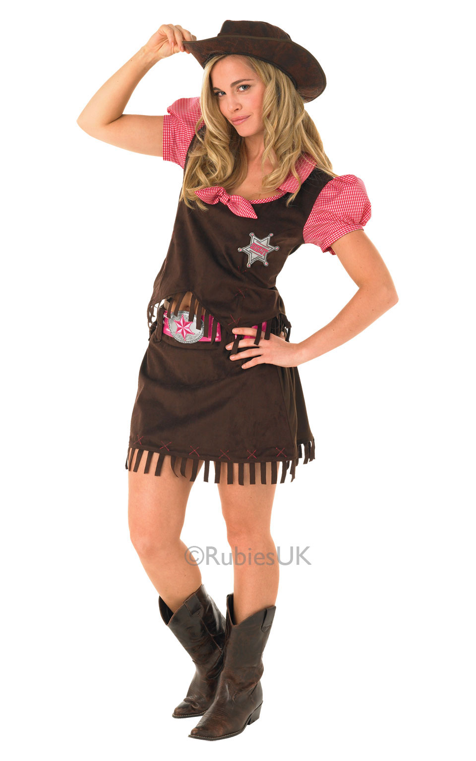 Womens Ladies Cowgirl Fancy Dress Costume Outfit Rubies Western Wild West