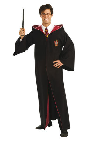 Deluxe Harry Potter Robe Fancy Dress Costume Outfit Adult Mens Male Official