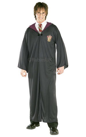 Harry Potter Robe Fancy Dress Costume Outfit Adult Mens Male Cloak Cosplay