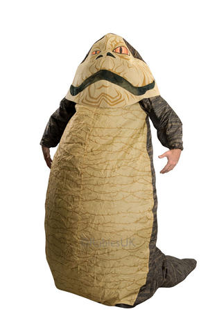 Inflatable Jabba The Hutt Star Wars Fancy Dress Costume Outfit Adult Mens Male