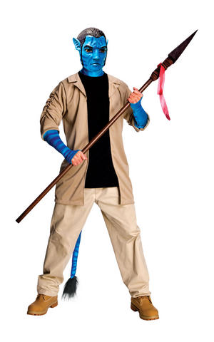 Deluxe Jake Sully Adult Fancy Dress Costume Outfit Adult Mens Male Std Or XL
