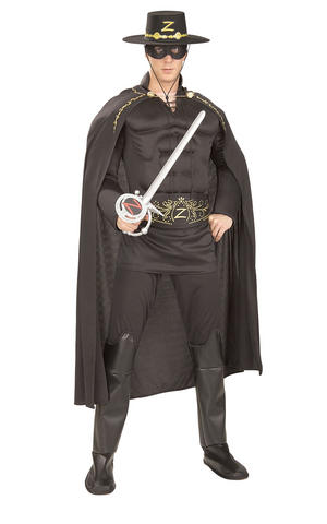 Deluxe Zorro Bandit Fancy Dress Costume Outfit Adult Mens Male Std Or XL