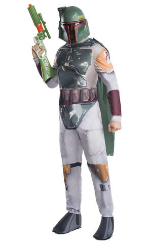Boba Fett Fancy Dress Costume & Mask Star Wars Outfit Adult Mens Male Std Or XL