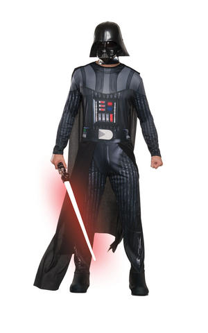 Darth Vader Fancy Dress Costume Star Wars Outfit Adult Mens Male Std Or XL