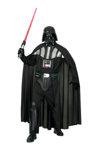 Deluxe Darth Vader Fancy Dress Costume Star Wars Outfit Adult Mens Male Std - XL