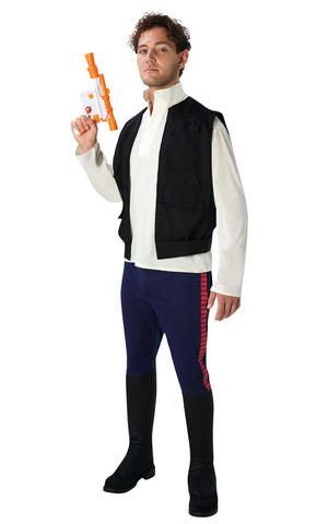 Deluxe Han Solo Fancy Dress Costume Star Wars Outfit Adult Mens Male Std Or XL